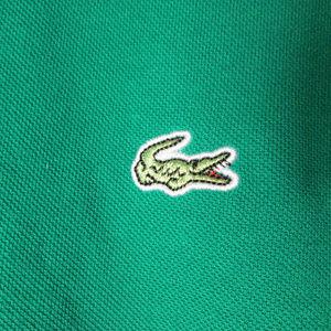 Lacoste Shirts - vintage lacoste polo shirt green plaid logo rare